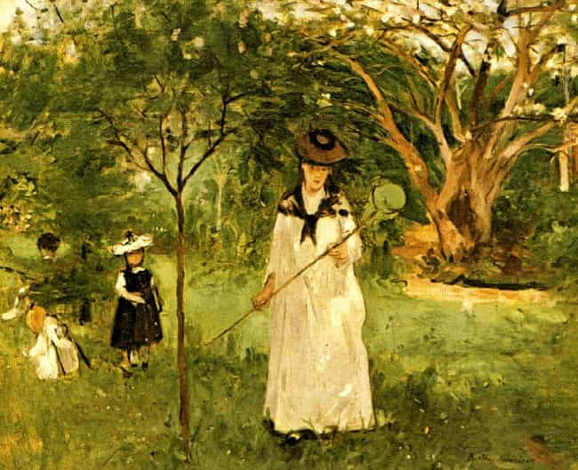 Chasing Butterflies is listed (or ranked) 1 on the list List of Famous Berthe Morisot Artwork