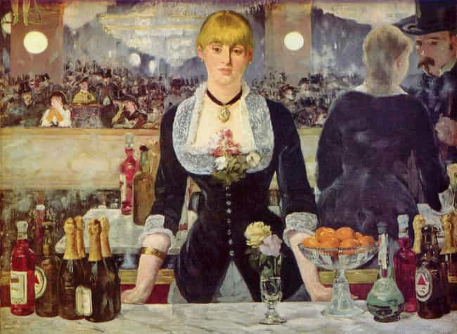 A Bar at the Folies-Bergère is listed (or ranked) 3 on the list List of Famous Genre Paintings