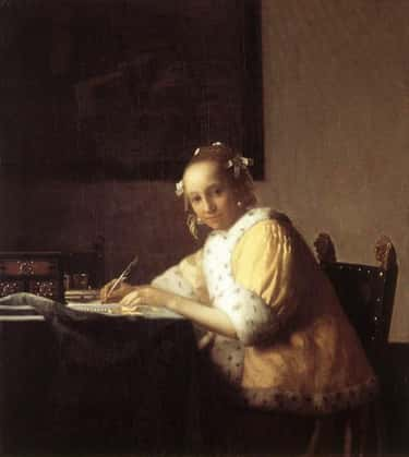 A Lady Writing a Letter is listed (or ranked) 1 on the list Famous Genre Paintings  from the Baroque Movement