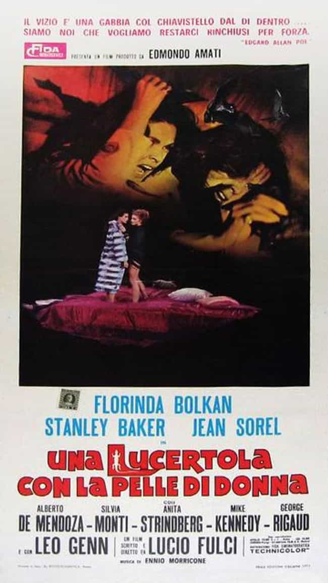 A Lizard in a Woman's Skin is listed (or ranked) 2 on the list 12 Horror Movies That Got People Jailed, Punished, or Officially Investigated