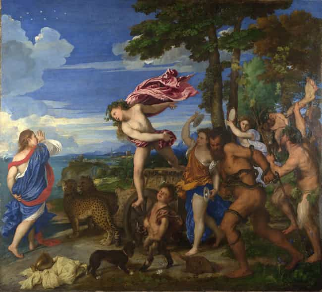 Bacchus and Ariadne is listed (or ranked) 3 on the list Famous Renaissance Paintings
