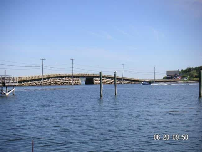 Bailey Island Bridge is listed (or ranked) 1 on the list Bridges in Maine
