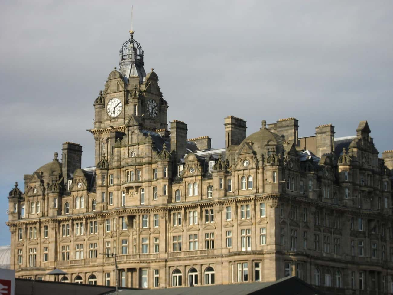 Balmoral Hotel is listed (or ranked) 1 on the list List of Famous Edinburgh Buildings & Structures