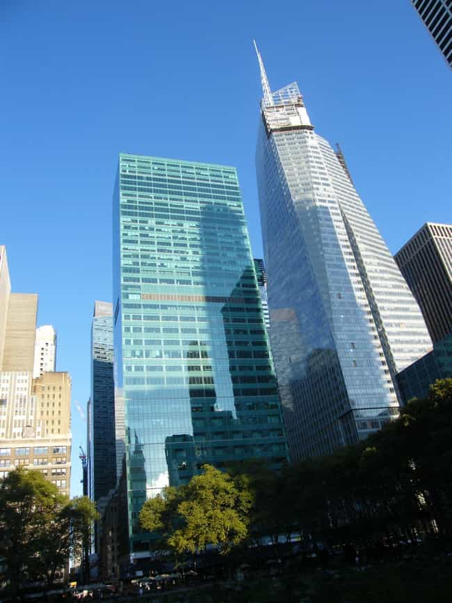 Bank of America Tower is listed (or ranked) 3 on the list The Top 25 Tallest Buildings in New York
