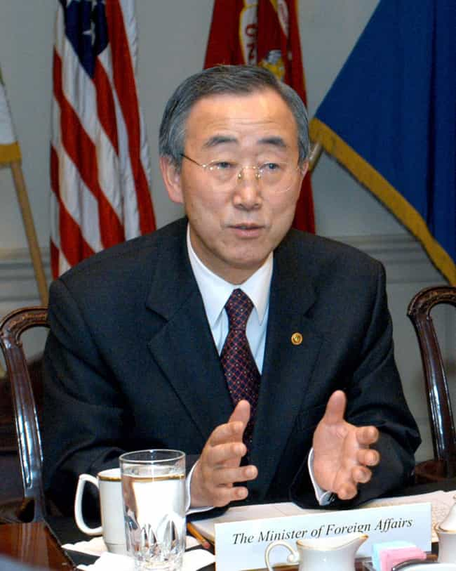 Ban Ki-moon is listed (or ranked) 4 on the list World Leaders (Allegedly) In The Illuminati
