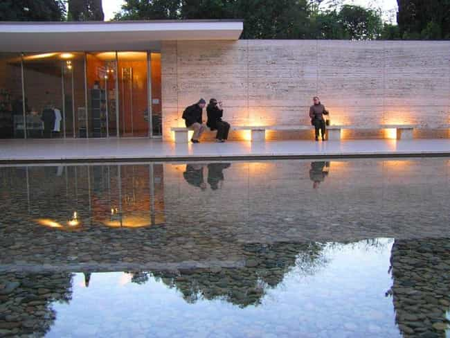 Barcelona Pavilion Is Listed Or Ranked 2 On The List Of Famous