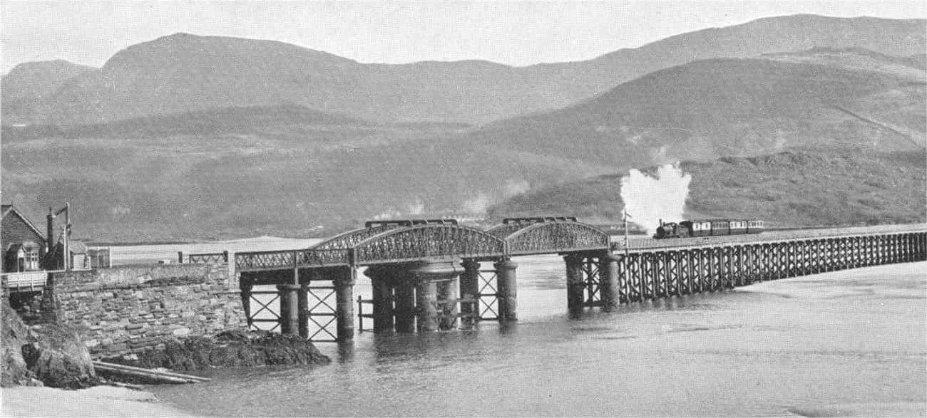 Barmouth Bridge is listed (or ranked) 1 on the list Bridges in Wales