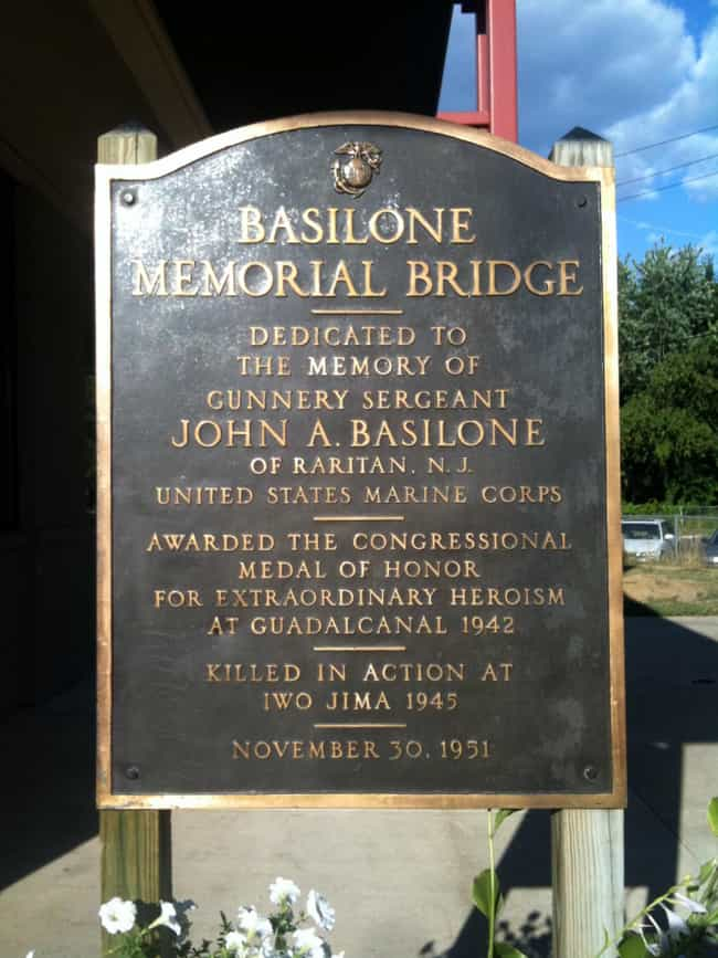 Basilone Bridge is listed (or ranked) 2 on the list Bridges in New Jersey