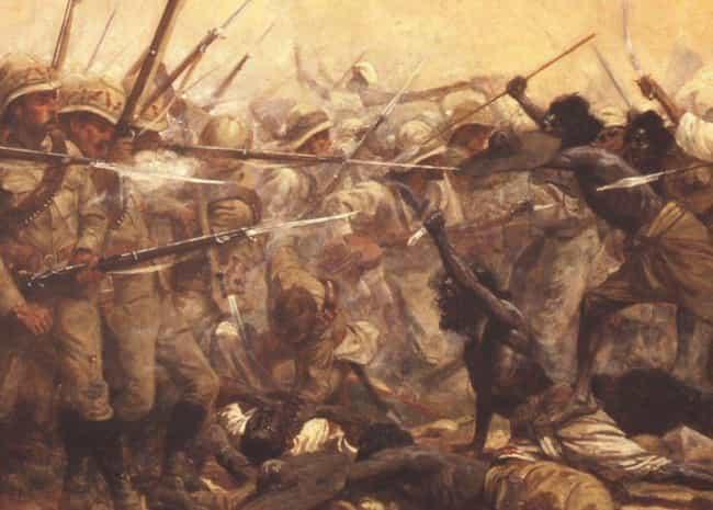 Batte at Abu Klea, Sudan, January 1885