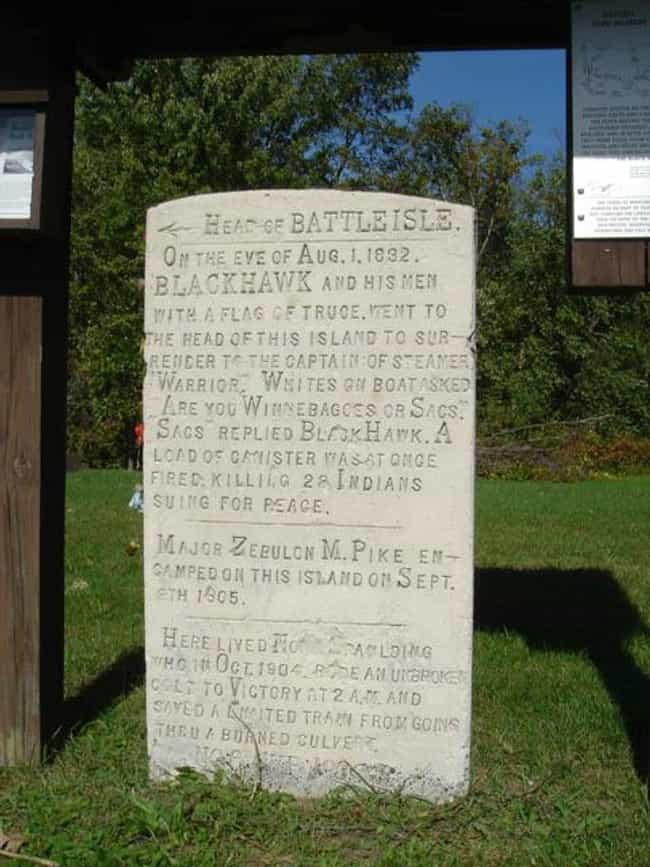 Battle of Bad Axe is listed (or ranked) 4 on the list List Of Black Hawk War Battles