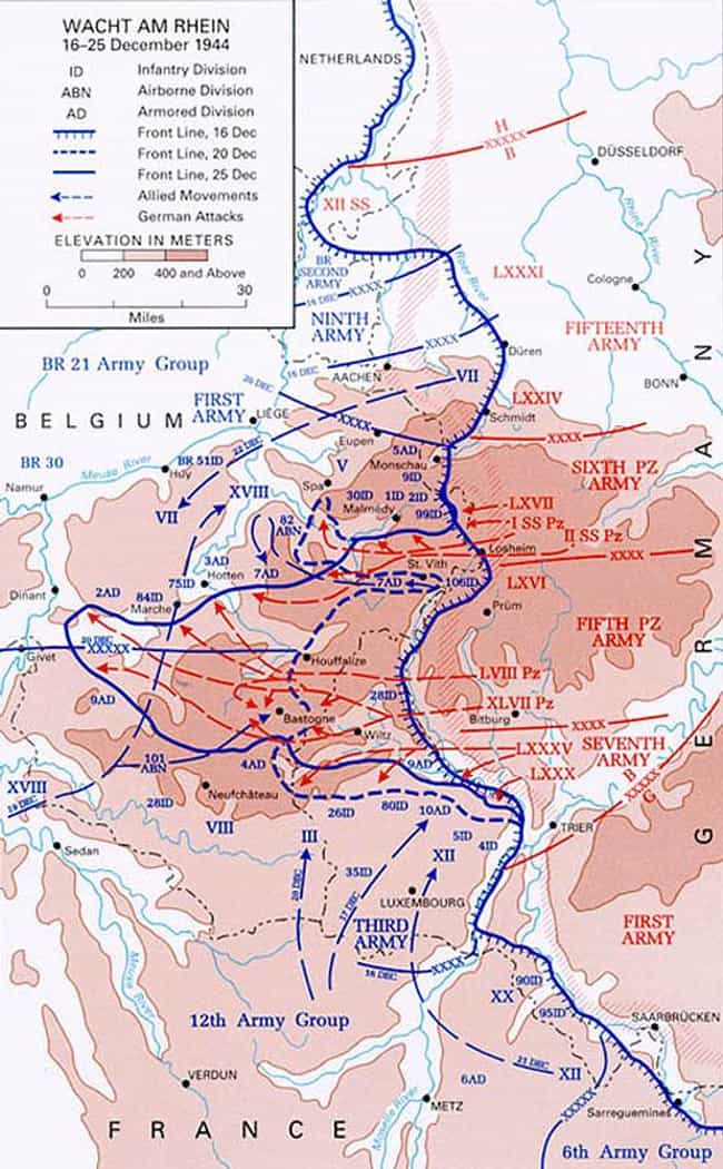 Siege of Bastogne is listed (or ranked) 1 on the list List Of Battle of the Bulge Battles