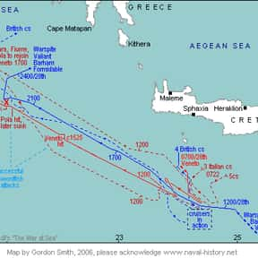 Battle of Cape Matapan is listed (or ranked) 8 on the list World War II Battles Involving the Australia