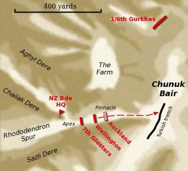 Battle of Chunuk Bair is listed (or ranked) 1 on the list List Of Battle of Gallipoli Battles