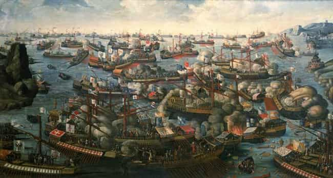 Battle of Lepanto is listed (or ranked) 1 on the list Battles of Macrohistorical Importance of Invasions of Europe