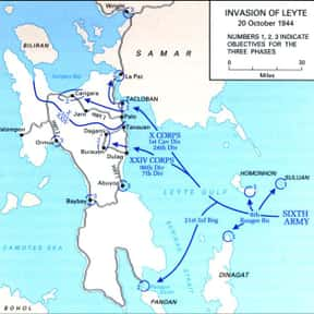Battle of Leyte is listed (or ranked) 7 on the list World War II Battles Involving the Axis Powers