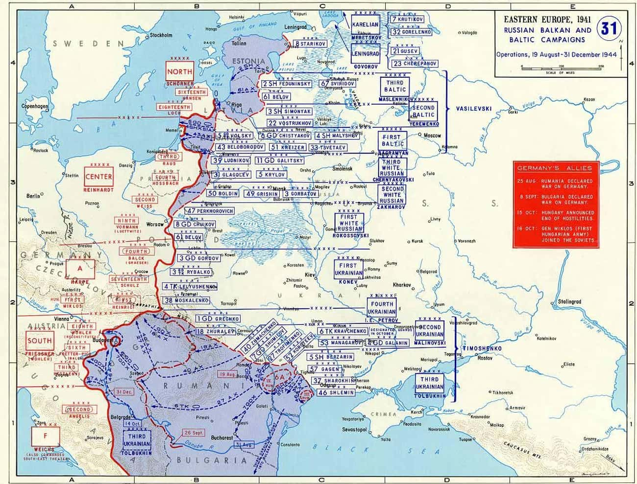 Baltic Offensive is listed (or ranked) 2 on the list List Of Eastern Front Battles