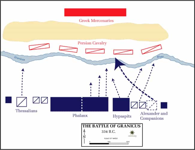Battle of the Granicus ... is listed (or ranked) 7 on the list List Of Wars of Alexander the Great Battles