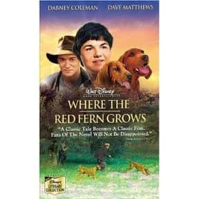 Where the Red Fern Grows is listed (or ranked) 24 on the list The Saddest Drama Movies to Watch Drunk