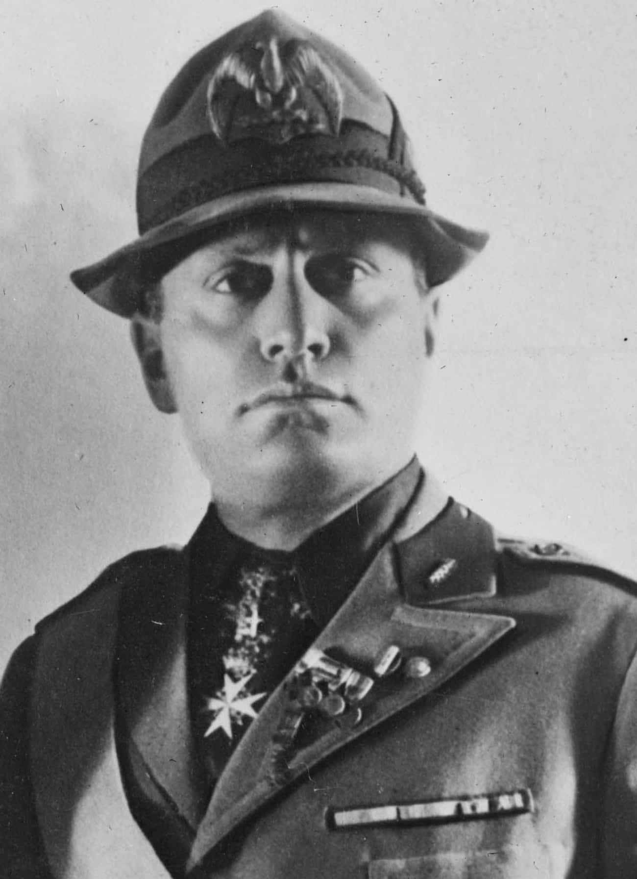 Benito Mussolini is listed (or ranked) 4 on the list Famous Male Dictators