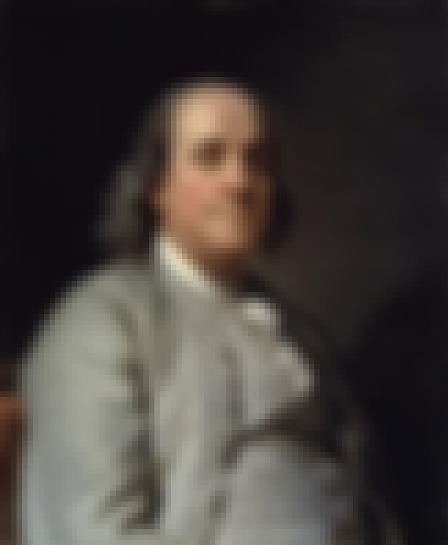 Benjamin Franklin is listed (or ranked) 5 on the list Famous Freemasons List