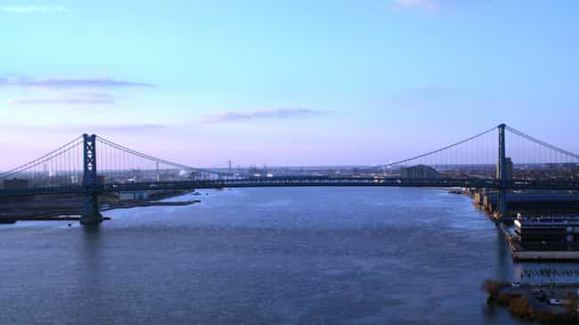 Benjamin Franklin Bridge... is listed (or ranked) 4 on the list Bridges in New Jersey