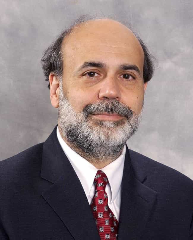 Ben Bernanke is listed (or ranked) 1 on the list Famous Male Bankers