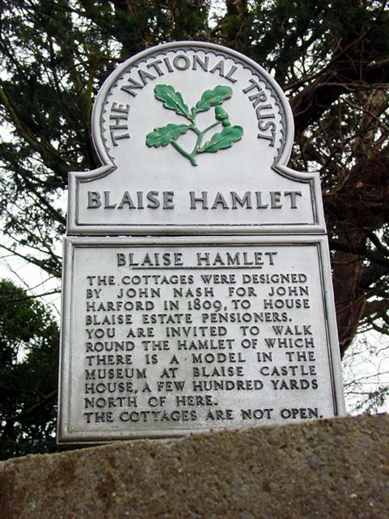 Blaise Hamlet is listed (or ranked) 4 on the list John Nash Architecture