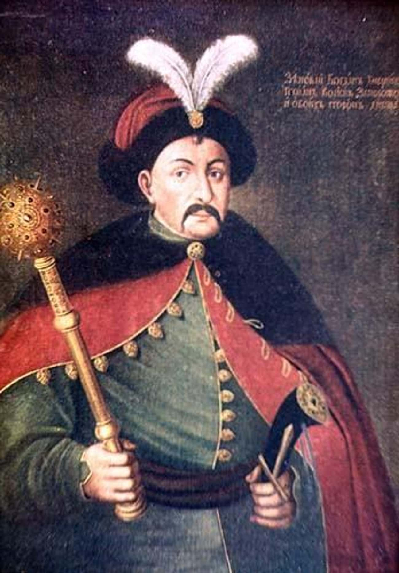 Bohdan Khmelnytsky is listed (or ranked) 3 on the list List of Famous Cossacks