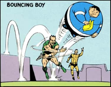 Bouncing Boy is listed (or ranked) 1 on the list The Most Ridiculous Superheroes Ever