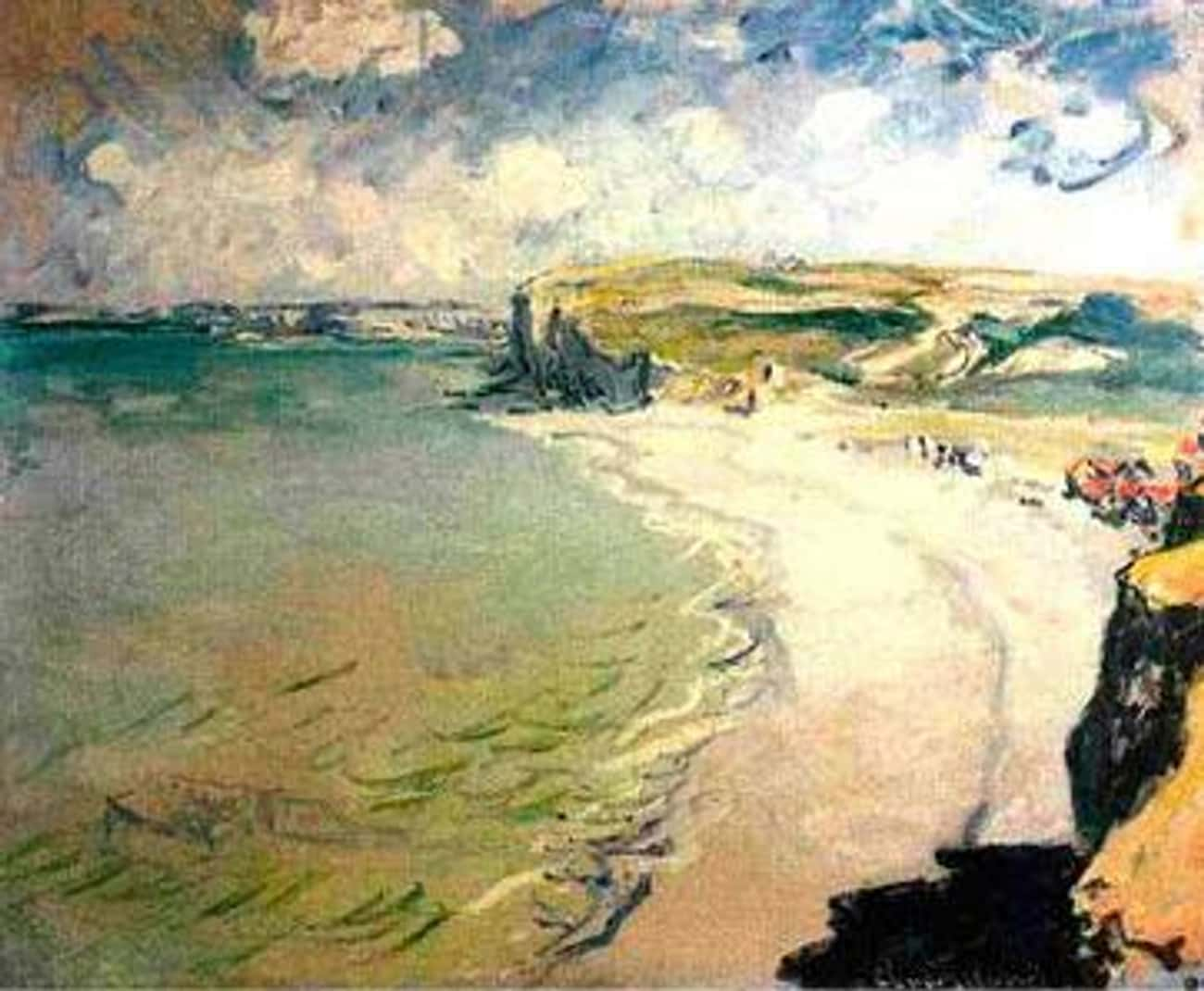 Beach in Pourville is listed (or ranked) 1 on the list Famous Marine Arts by Claude Monet