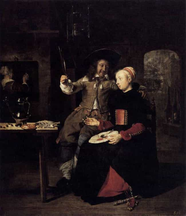 Portrait of the Artist with Hi... is listed (or ranked) 3 on the list List of Famous Self-portrait Paintings