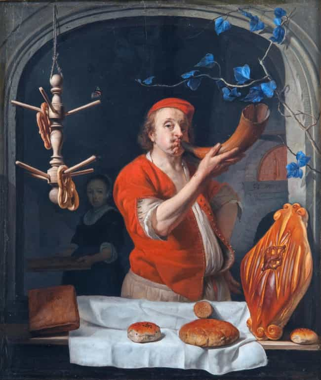 A Baker Blowing his Horn is listed (or ranked) 2 on the list Famous Genre Paintings from the Dutch Golden Age Movement