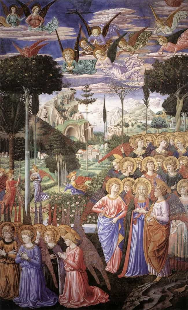 Angels Worshipping is listed (or ranked) 3 on the list Fresco Art: Famous Works