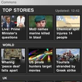 BBC News is listed (or ranked) 25 on the list The Best News Apps for Your Smartphone