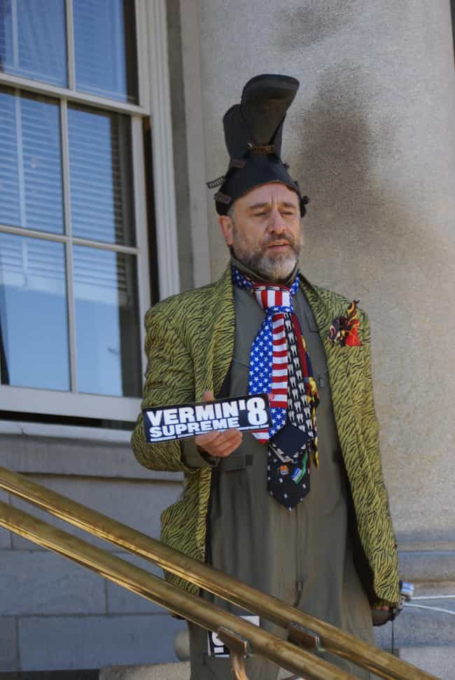 Vermin Supreme is listed (or ranked) 1 on the list 24 OTHER People Who Are Running for President in 2016