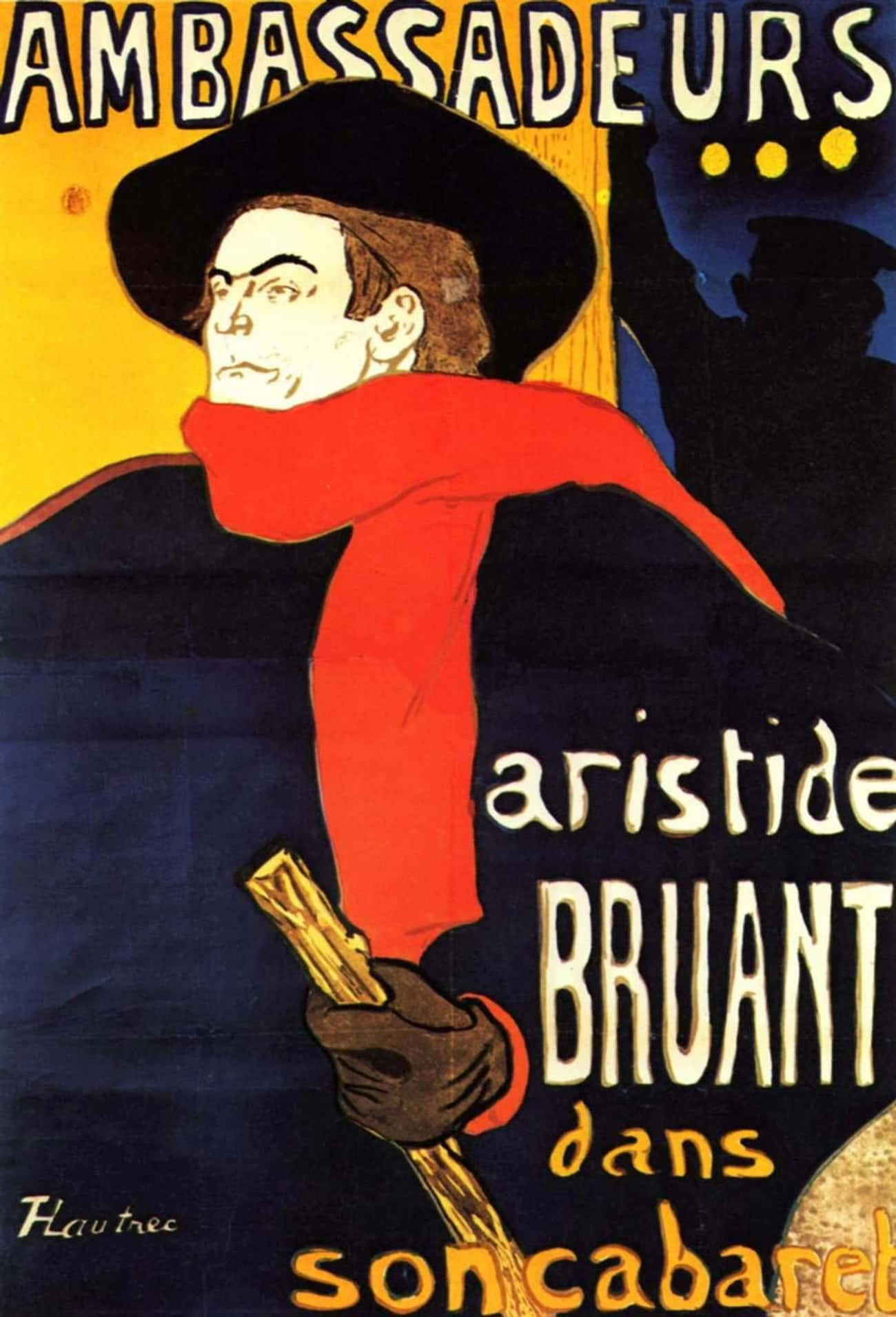 Ambassadeurs: Aristide Bruant  is listed (or ranked) 4 on the list Printmaking Art: Famous Works