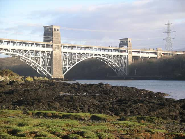 Britannia Bridge is listed (or ranked) 2 on the list Bridges in Wales