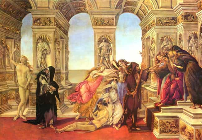 Calumny of Apelles is listed (or ranked) 4 on the list List of Famous Sandro Botticelli Artwork