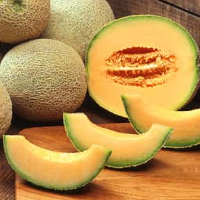 Cantaloupe is listed (or ranked) 4 on the list Low Fat foods