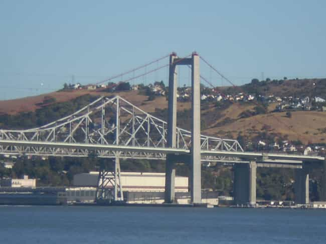 Carquinez Bridge is listed (or ranked) 6 on the list Famous Bridges in California