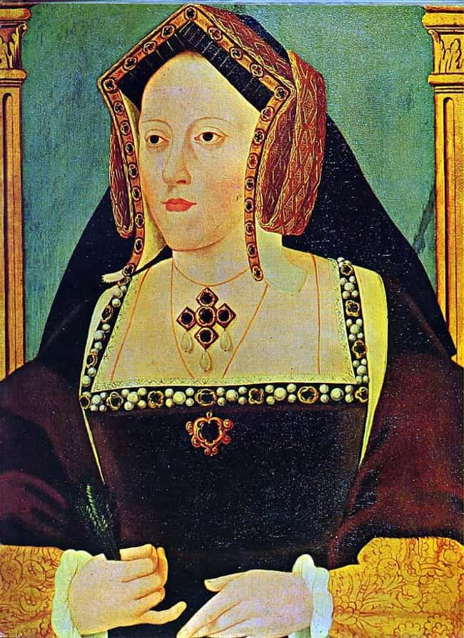 Catherine of Aragon is listed (or ranked) 2 on the list Famous Widows Who Fell For Another Member Of Their Husband's Family