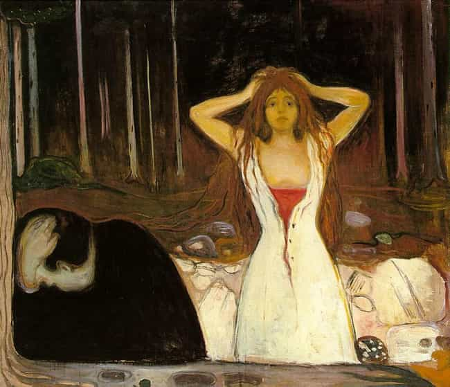 Ashes is listed (or ranked) 1 on the list Famous Edvard Munch Paintings