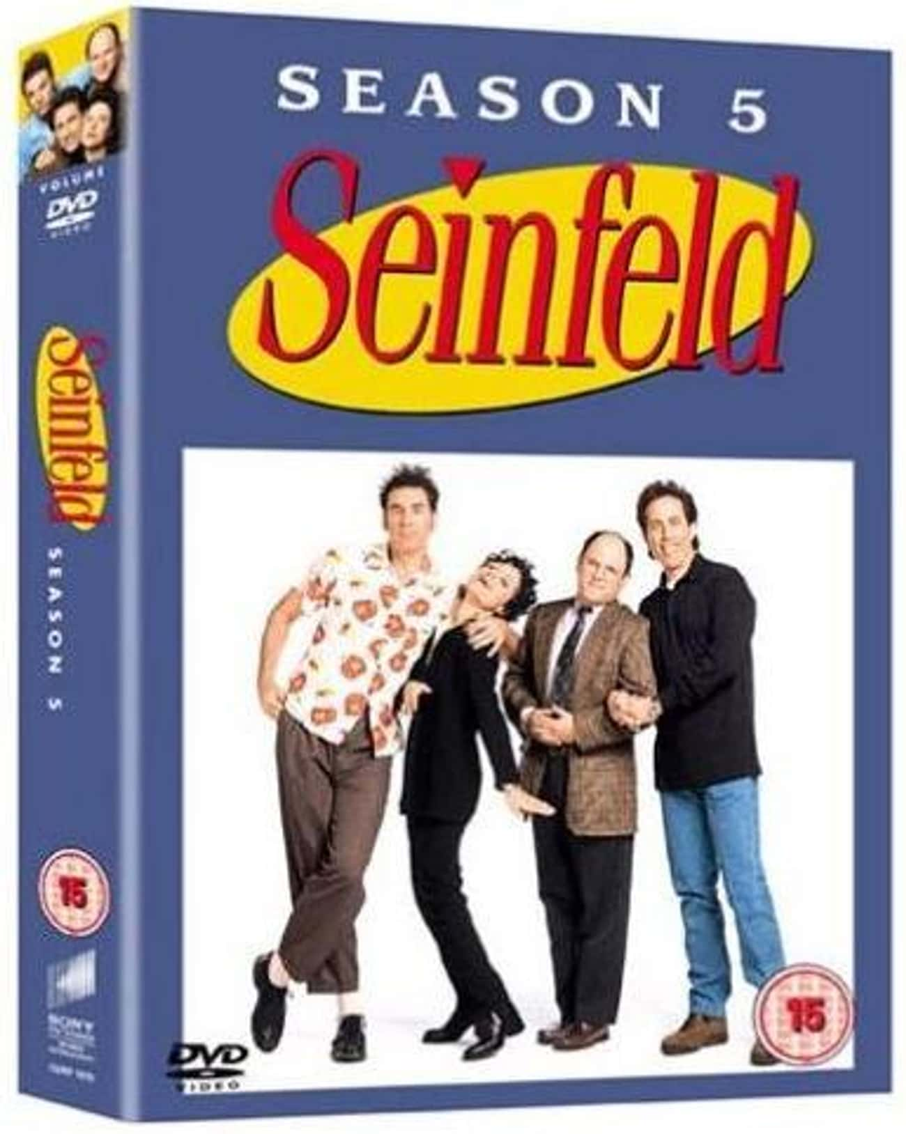 Season 5 is listed (or ranked) 1 on the list Seinfeld Seasons, Ranked The Best to Worst