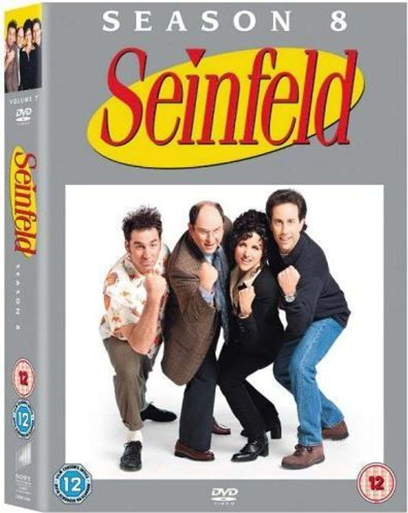 Season 8 is listed (or ranked) 4 on the list Seinfeld Seasons, Ranked The Best to Worst