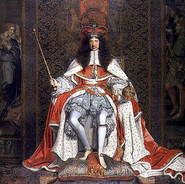 Charles II of England is listed (or ranked) 4 on the list The Most Ridiculous Titles of Nobility in History