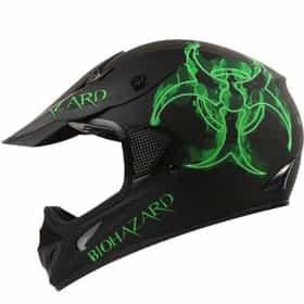 Bio-hazard Matte Black Atv Dirt Bike Motocross Motorsports Helmet Dot