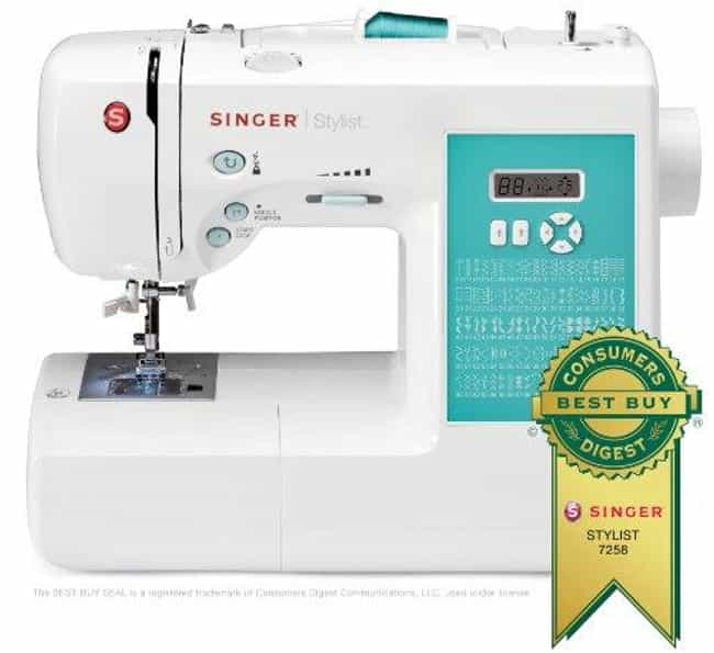 Singer 7258 Stylist 100-... is listed (or ranked) 4 on the list The Best Embroidery Sewing Machines