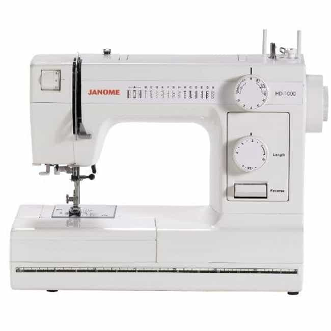 Janome Hd1000 Heavy-duty... is listed (or ranked) 4 on the list The Best Heavy Duty Sewing Machines