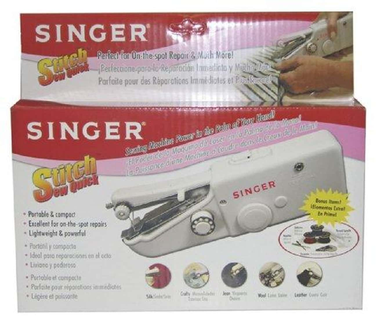 Singer Stitch Sew Quick is listed (or ranked) 2 on the list The Best Hand Held Sewing Machine