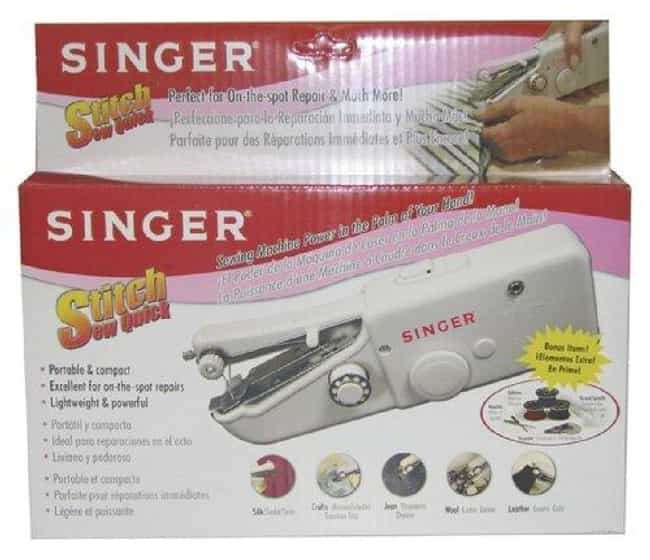 Singer Stitch Sew Quick ... is listed (or ranked) 1 on the list The Best Hand Held Sewing Machine